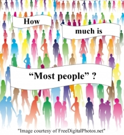 How much is most people